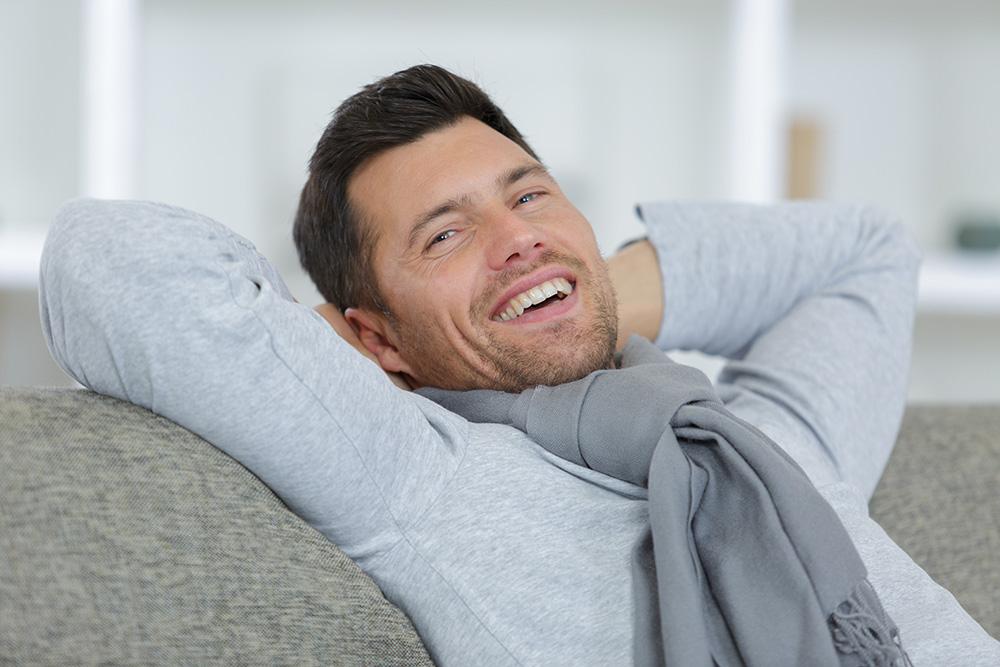 初めの頃より表情豊かになり笑顔の多いAB型男性